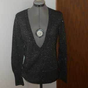 Express Black and Silver Sweater